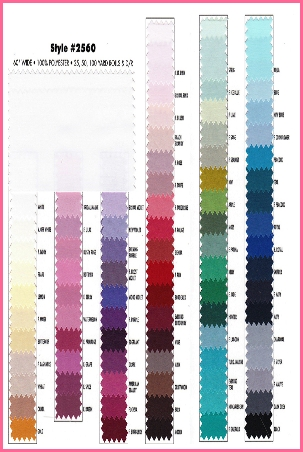 Poly Silk Fabric Swatches